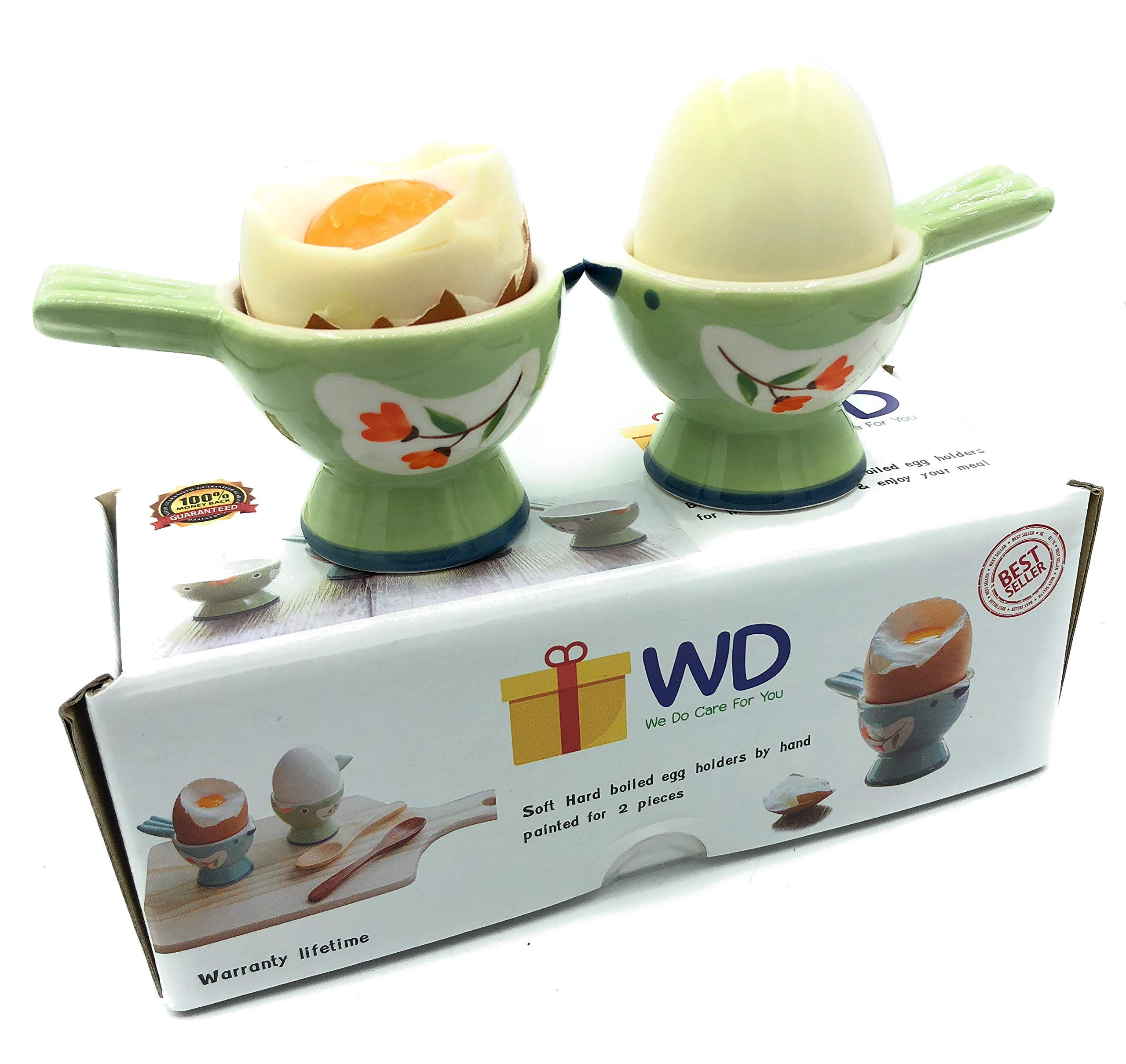 Egg Cups Egg Cup Cute Ceramic Soft Boiled Egg Holder for Breakfast Brunch Egg Holders Color : Green