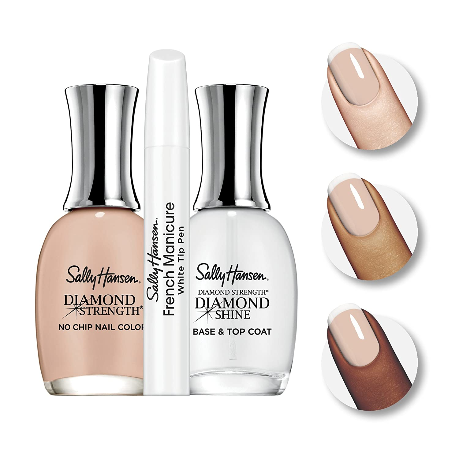 Amazon.com : Sally Hansen Diamond Strength French Manicure Pen Kit ...