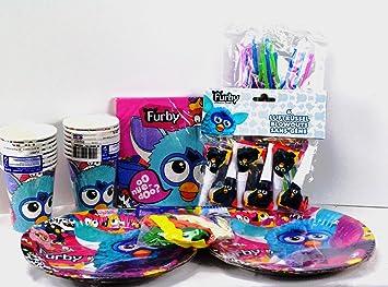 Fiesta Set Furby con 74 piezas, Fiesta temática, cumpleaños ...