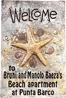 product image for Piazza Pisano Welcome Starfish Beach House Personalized Sign