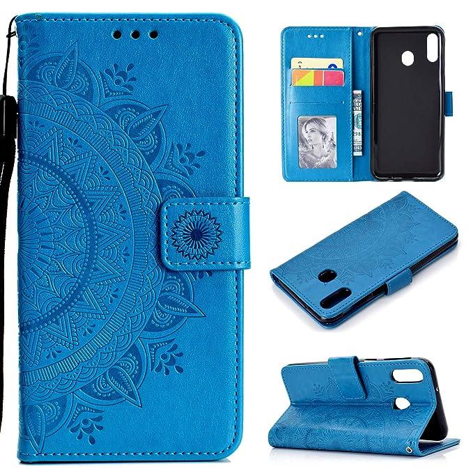 63 opinioni per HTDELEC Custodia Samsung Galaxy A40 Blu Premium Pu Portafoglio Protettiva in