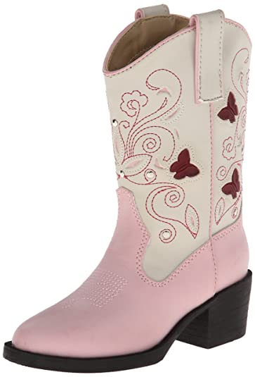 e6bf2f17c6f Roper Light Up Butterfly Western Boot (Toddler/Little Kid)