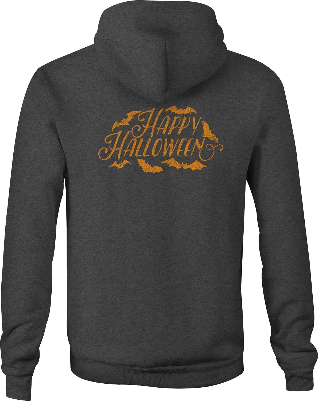 Zip Up Hoodie Happy Halloween Bats Hooded Sweatshirt for Men