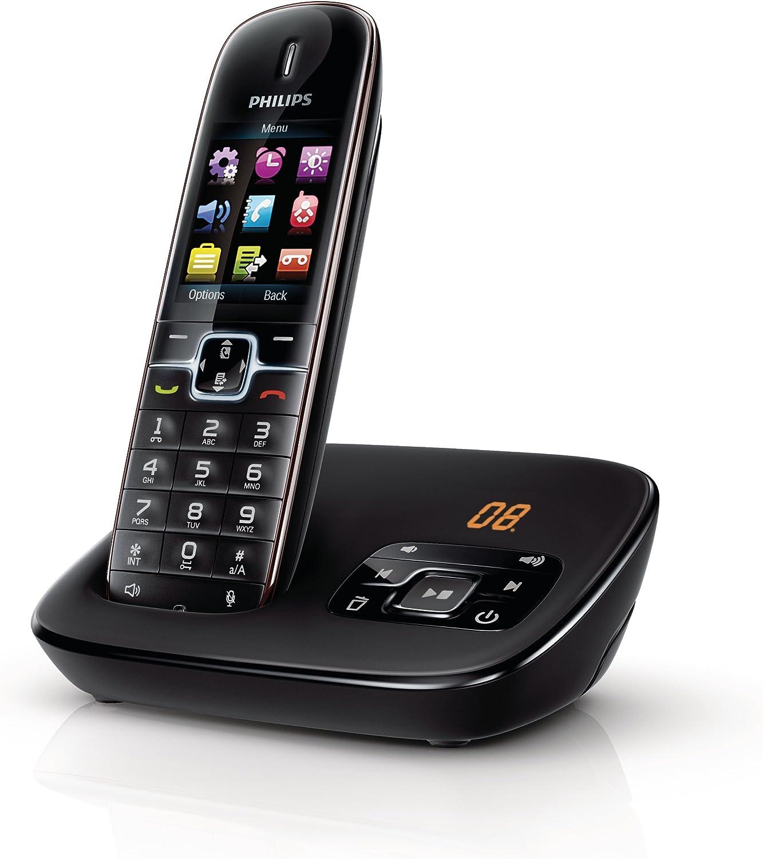 Philips CD6951B/DE BeNear - Teléfono inalámbrico con contestador, color negro [Importado de Alemania]: Amazon.es: Electrónica
