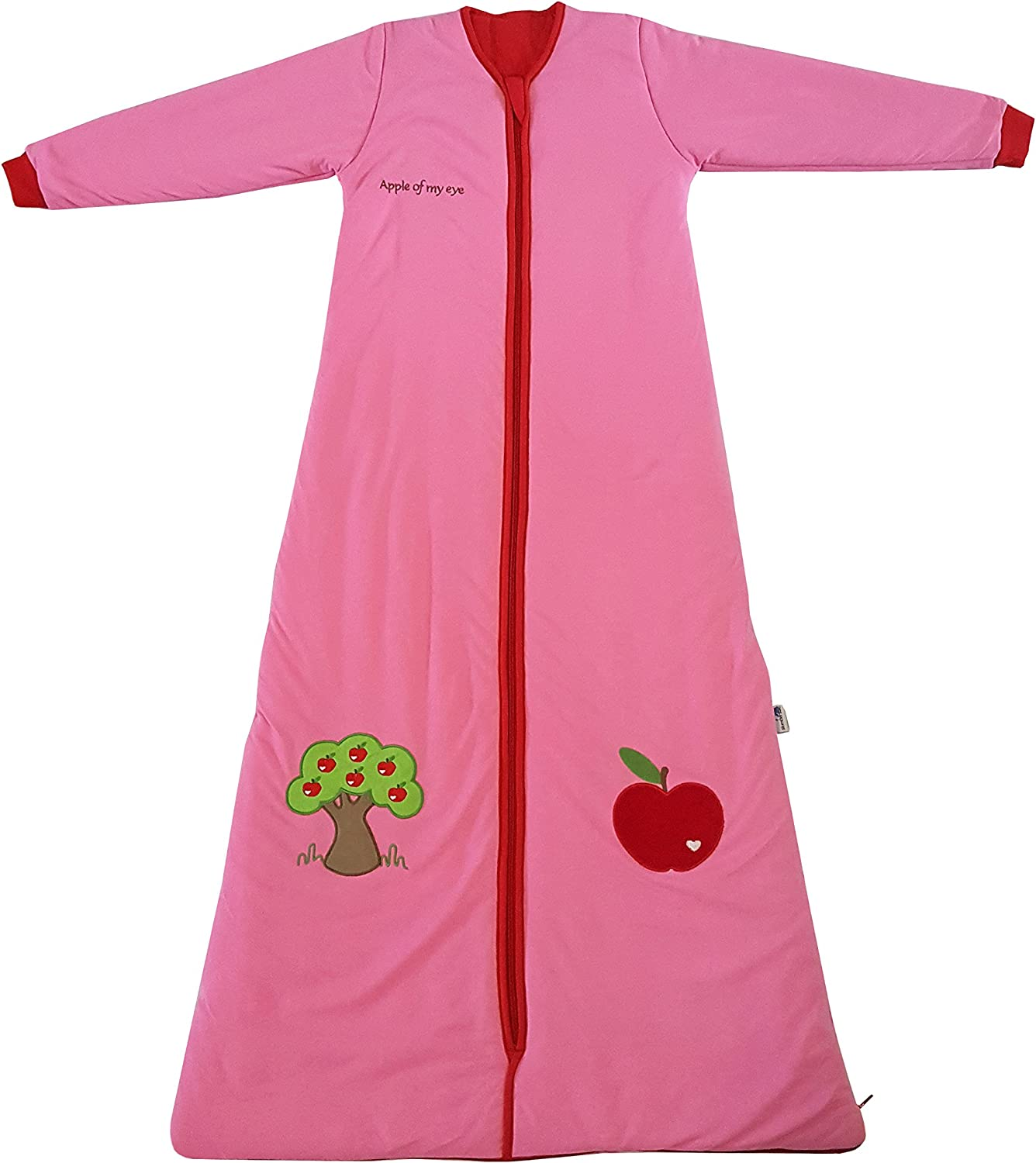 Slumbersac Sleeping Bag with Non Removable Long Sleeves 2.5 Tog-Red Apple 6-18 months//35 inch