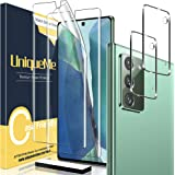[2+2 Pack] UniqueMe 2 pack Soft TPU Screen Protector and 2 pack Tempered Glass Camera Lens Protector for Samsung Galaxy…