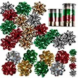 Amazon Price History for:30 Christmas Gift Bows Self Adhesive + 8 Rolls of Christmas Curling Ribbons By Gift Boutique