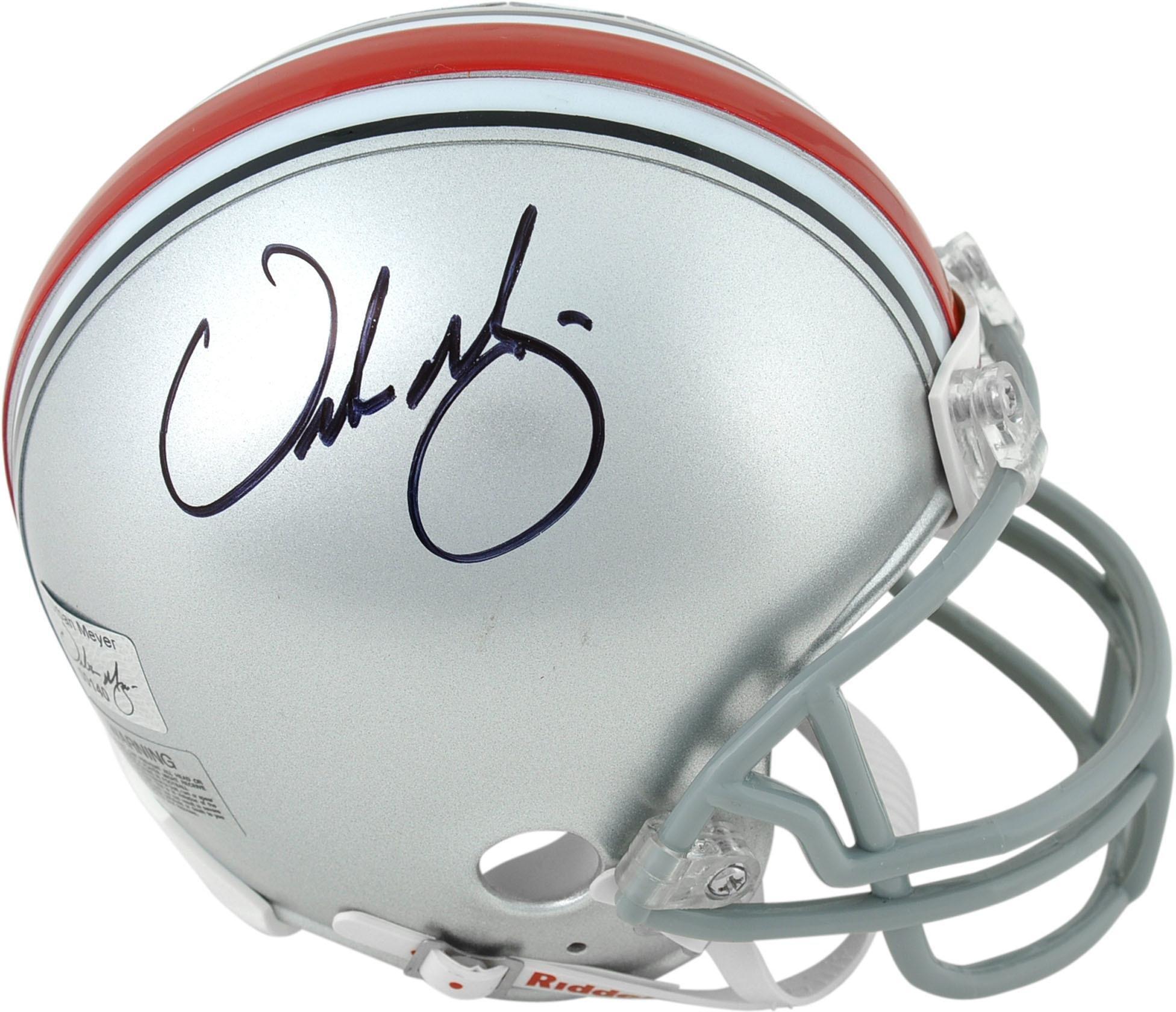 Urban Meyer Ohio State Buckeyes Autographed Mini Helmet Fanatics Authentic Certified Autographed College Mini Helmets