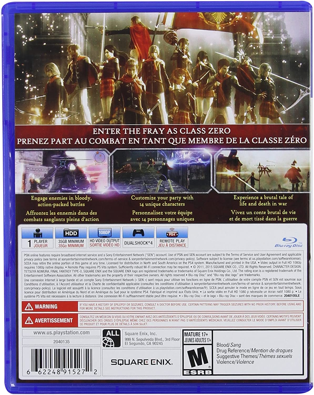 Amazon.com: Final Fantasy Type-0 HD - PS4 [Digital Code ...