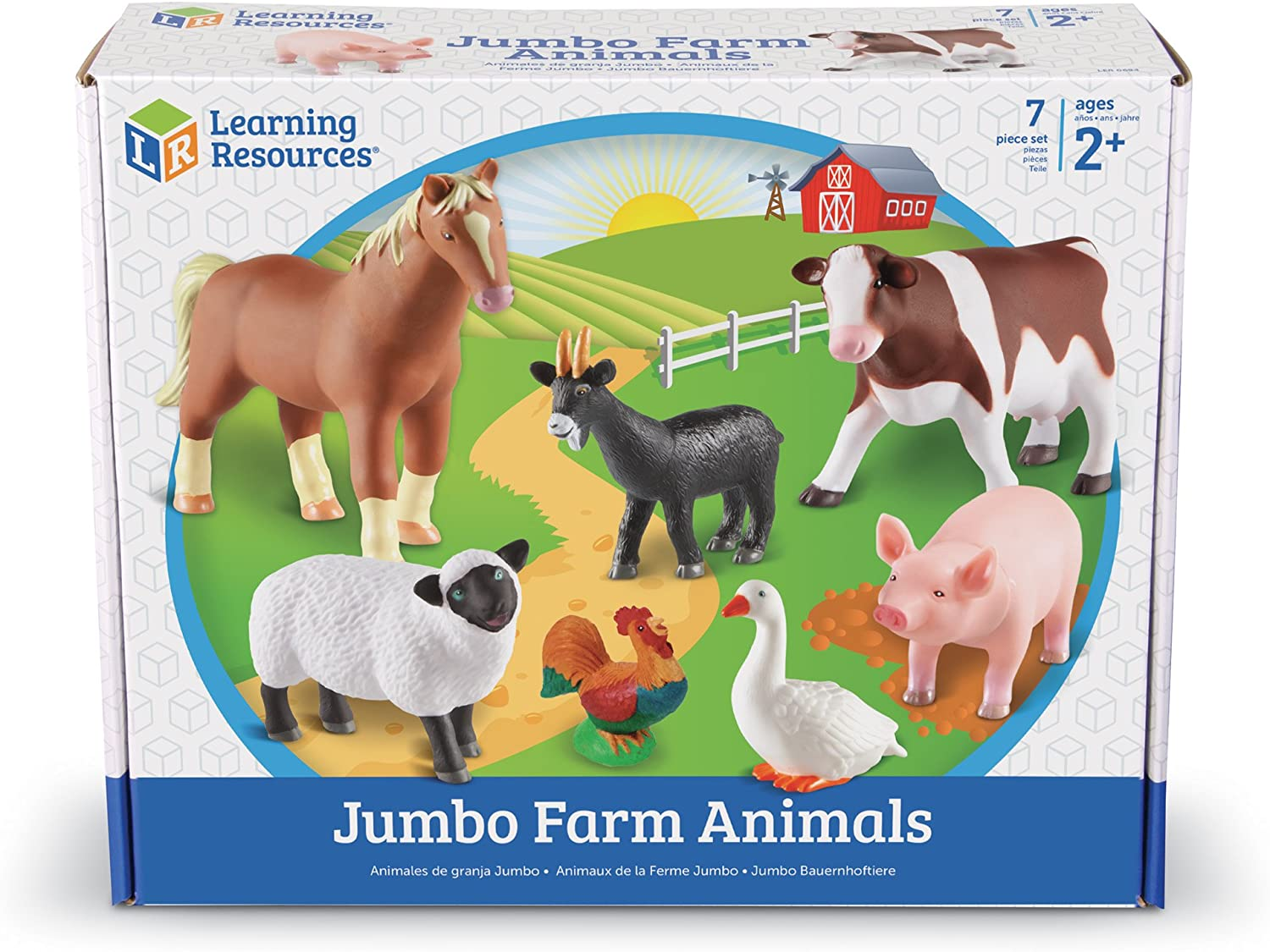 Learning Resources Jumbo Farm Animals Amazon Co Uk Toys Games