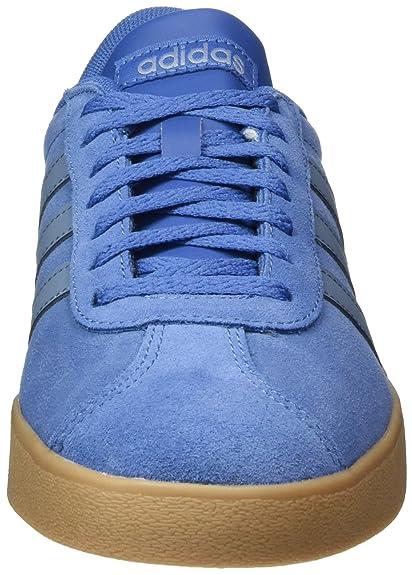 Adidas VL Court 2.0, Zapatillas de Gimnasia para Hombre, Azul (Trace Royal S18/Raw Grey S18/gum4), 46 EU