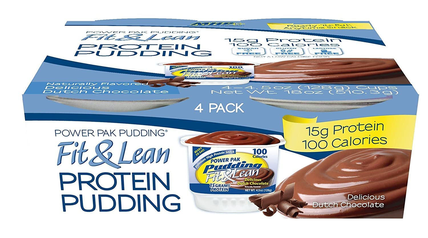 Amazon.com: MHP Fit & Lean Protein Pudding, Dutch Chocolate, 4.5 ...