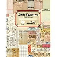 Basic Ephemera Collection: 18 sheets - 9 designs - 2 of each design