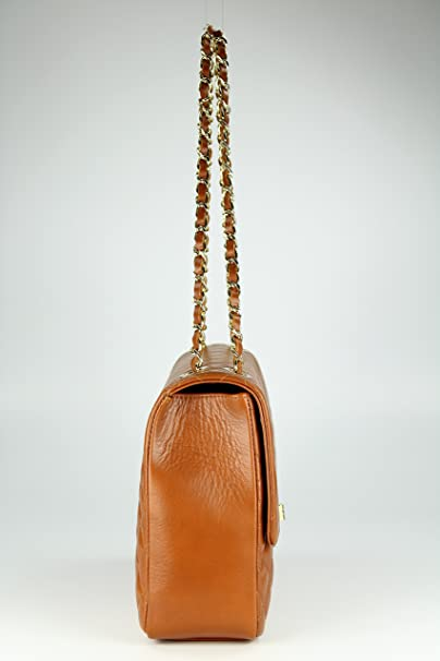 Paris Big ital. Echt Leder Handtasche Damentasche Umhängetasche Abendtasche gesteppt in rot - 32x22x10 cm (B x H x T) Belli f3o37nZP