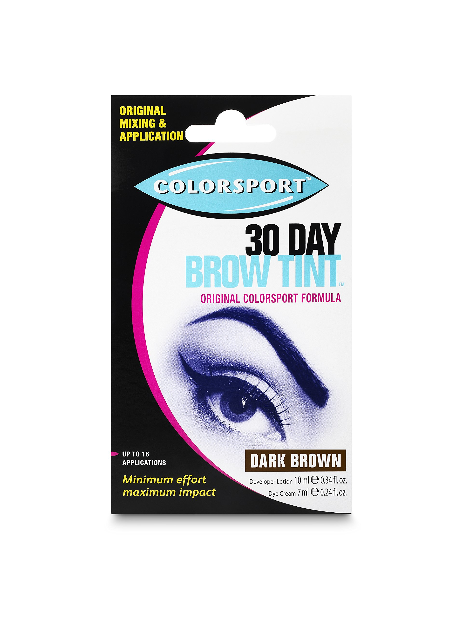 Colorsport 30 Day Brow Tint, Dark Brown by Colorsport
