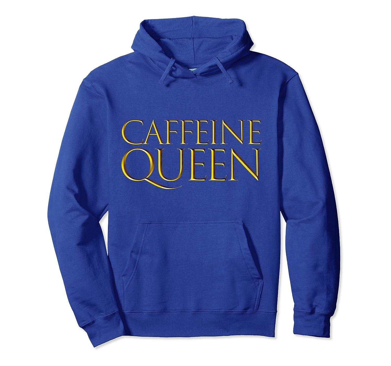 Caffeine Queen Pullover Hooded Sweatshirt Coffee Mom Hoodie-alottee gift