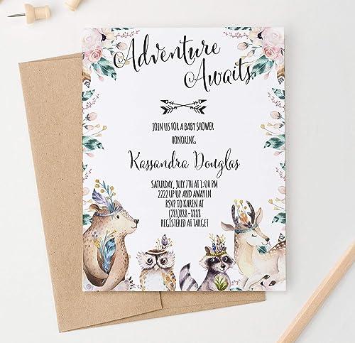 handmade animal greeting card Woodland animals baby card