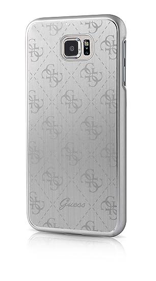 Guess GUHCS7MESI 4G Collection Aluminum Plate Hard Case