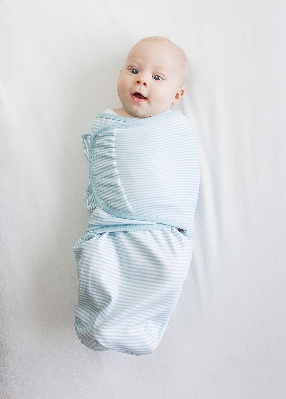 Gr/ün Amazing Baby von SwaddleDesigns Blau Set mit 2 gr/ö/ßenverstellbaren Puckdecken Winzige Dinosauriern und Palmen 0-3 Monate Klein