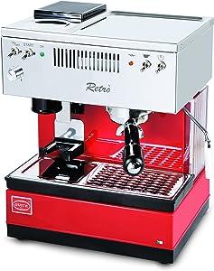 Quickmill Modell 0835 Retro Espressomaschine mit Siebträger und integrierter Kaffeemühle