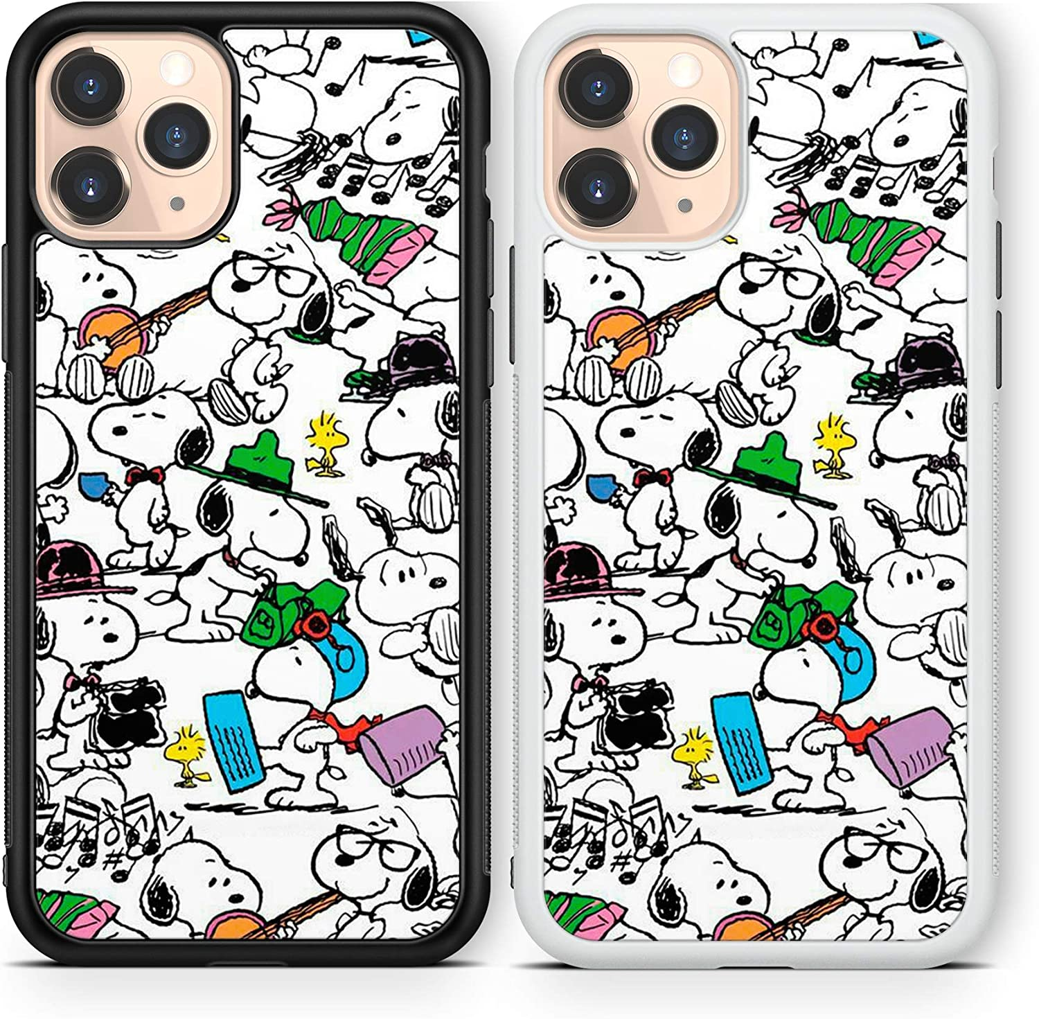 Snoopy case Compatible with iPhone 12 pro max Mini 11 XR X 7 8 SE Galaxy S20 Ultra S10 Note 10 20 TPU Cover SN173 (White, for iPhone 12/12 Pro)