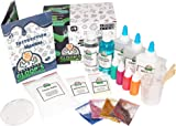 Professor Gloop's 5 in 1 Educational Slime Making Kit – DIY Non-Toxic, Borax-Free Set Includes Ingredients and Instructions on How to Make; Glow in the Dark | Glitter | Foam Ball | Bright | Regular Slime – Perfect Gift for Boys and Girls