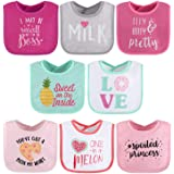 The Peanutshell Terry Bib Set for Baby Girls, 8 pack for Feeding, Teething, & Drooling