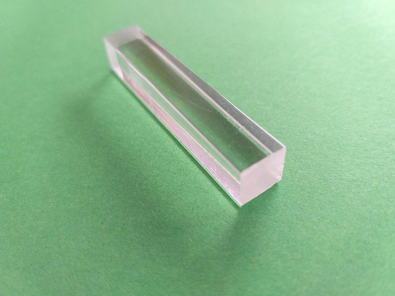 /Ø w/ählbar 1 Meter in 1000 mm 3 x 3 mm - Toleranz +//- 0,3 mm L/änge Acrylglas XT Vierkantstab klar
