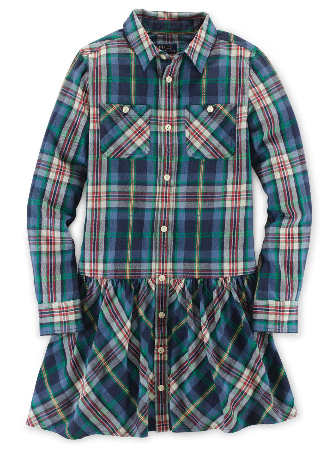 Ralph Lauren Polo Girls Plaid Shirtdress Shirt Dress 7