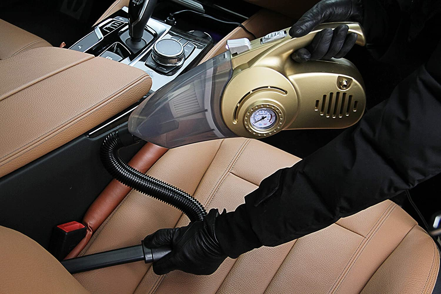 HUAHE Handheld High Power Car Vacuum Cleaner Wet /& Dry for Car Interior Cleaning