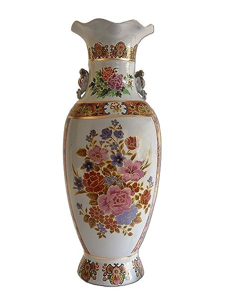 Large Chinese Vintage Xl Floor Vase Porcelain Vase With Flower