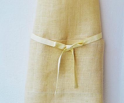 Yute Full delantal para mujer - hecha a mano - Anfitriona Regalo - Molde de horno