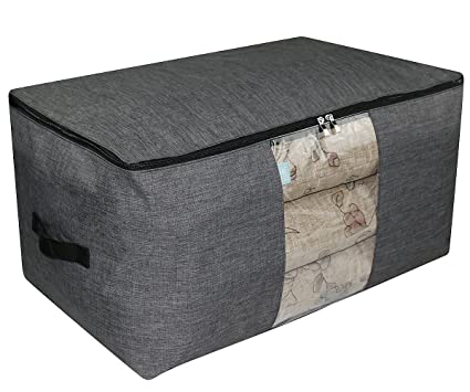 a2882e538b51 iwill CREATE PRO Over-Size Special Material Storage Box for Wardrobe  Organizer, Seasonal Clothes, Sweaters, Sheet Sets etc. 25.6X15.7X13.8, Dark  Gray