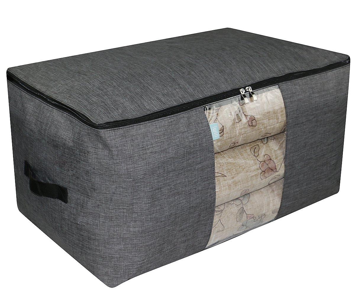 Jumbo Tamaño Impermeable Anti-polilla Caja de almacenamiento con cremallera para la organización del guardarropa