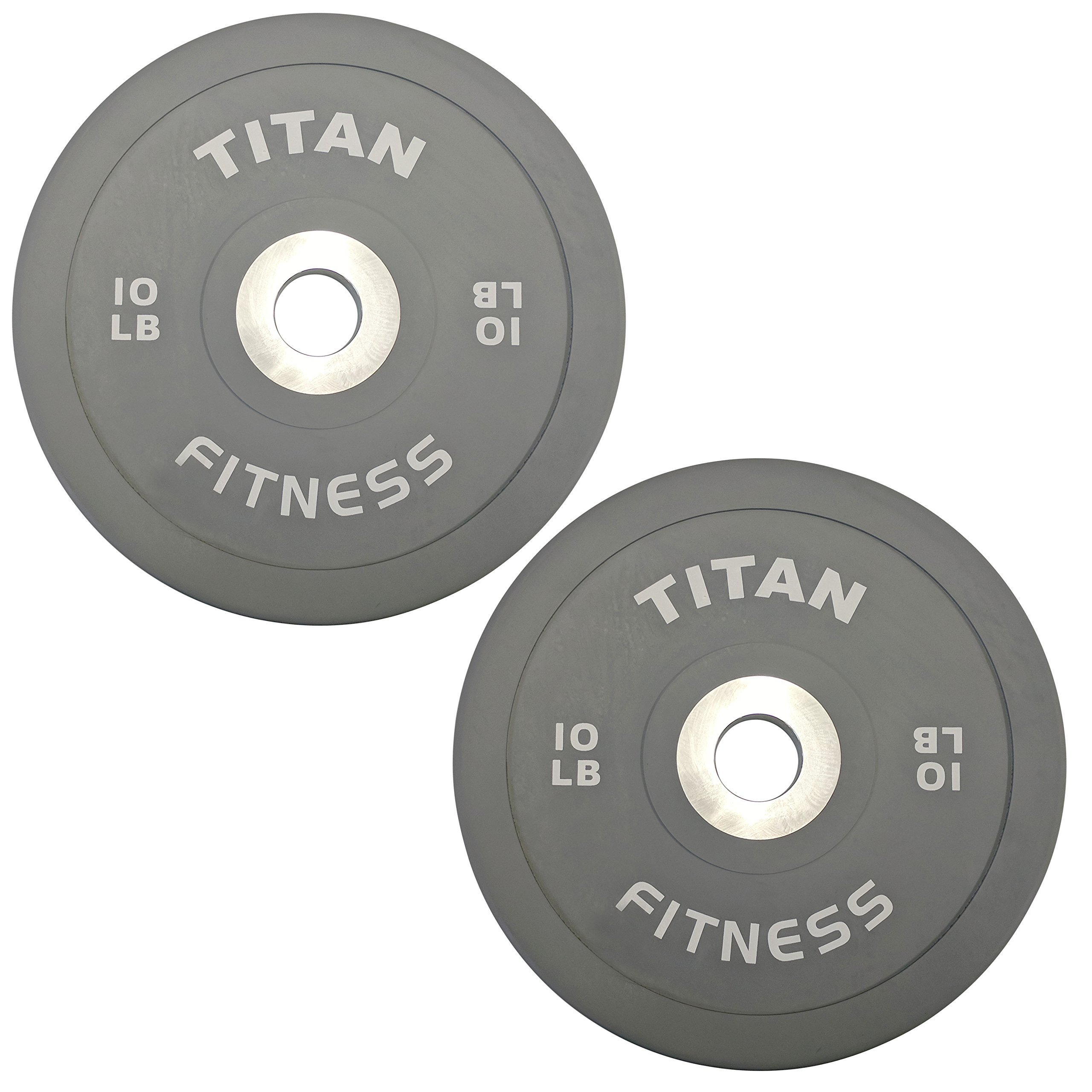 Pair of Titan Color Elite Olympic Bumper Plates - 10 LB by Titan Fitness