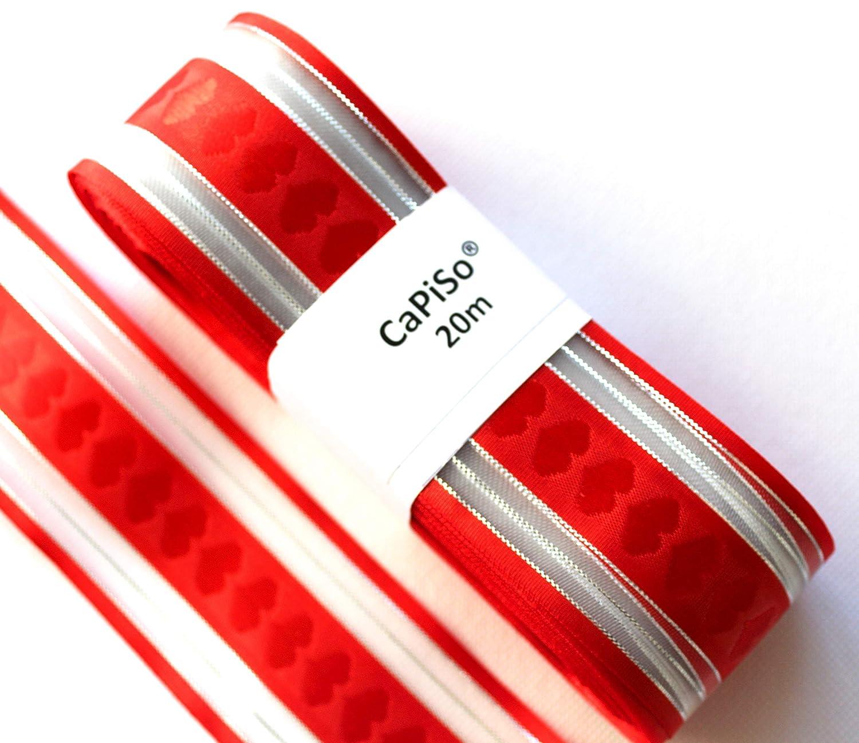CaPiSo/® Ruban de Satin 25 mm de Largeur dans diff/érentes Longueurs