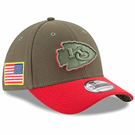 e4a293cf0b9 Image Unavailable. Image not available for. Color  Kansas City Chiefs New  Era NFL 39THIRTY 2017 Sideline  quot Salute to Service quot  Hat