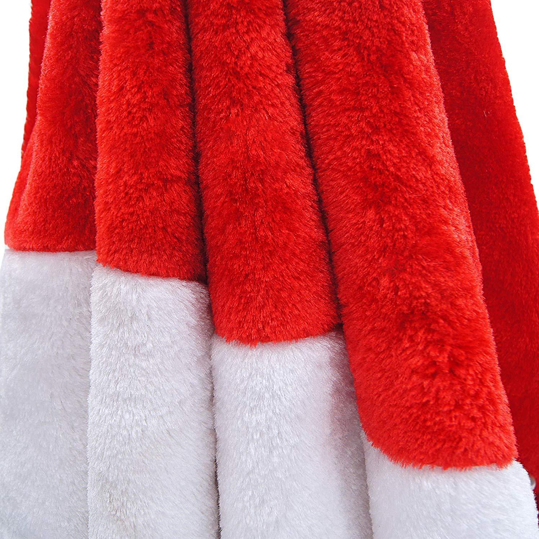 36 inch AMDX Jupe de Sapin de No/ël en Peluche Rouge