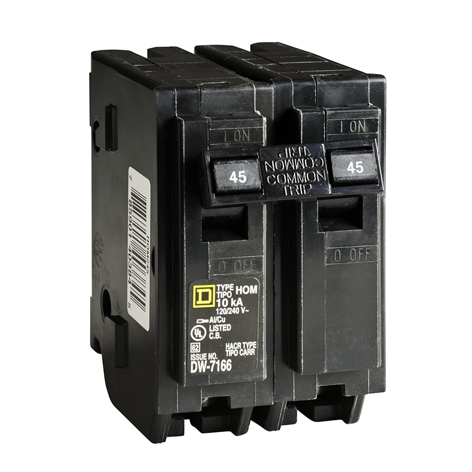 Square D by Schneider Electric HOM245CP Homeline 45-Amp Two-Pole ...