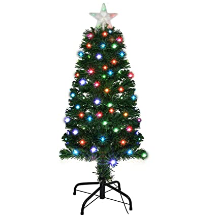 Holiday Essence 3 Foot Prelit Led Premium Hinged Artificial Christmas Pine  Tree with Solid Metal Legs - Amazon.com: Holiday Essence 3 Foot Prelit Led Premium Hinged