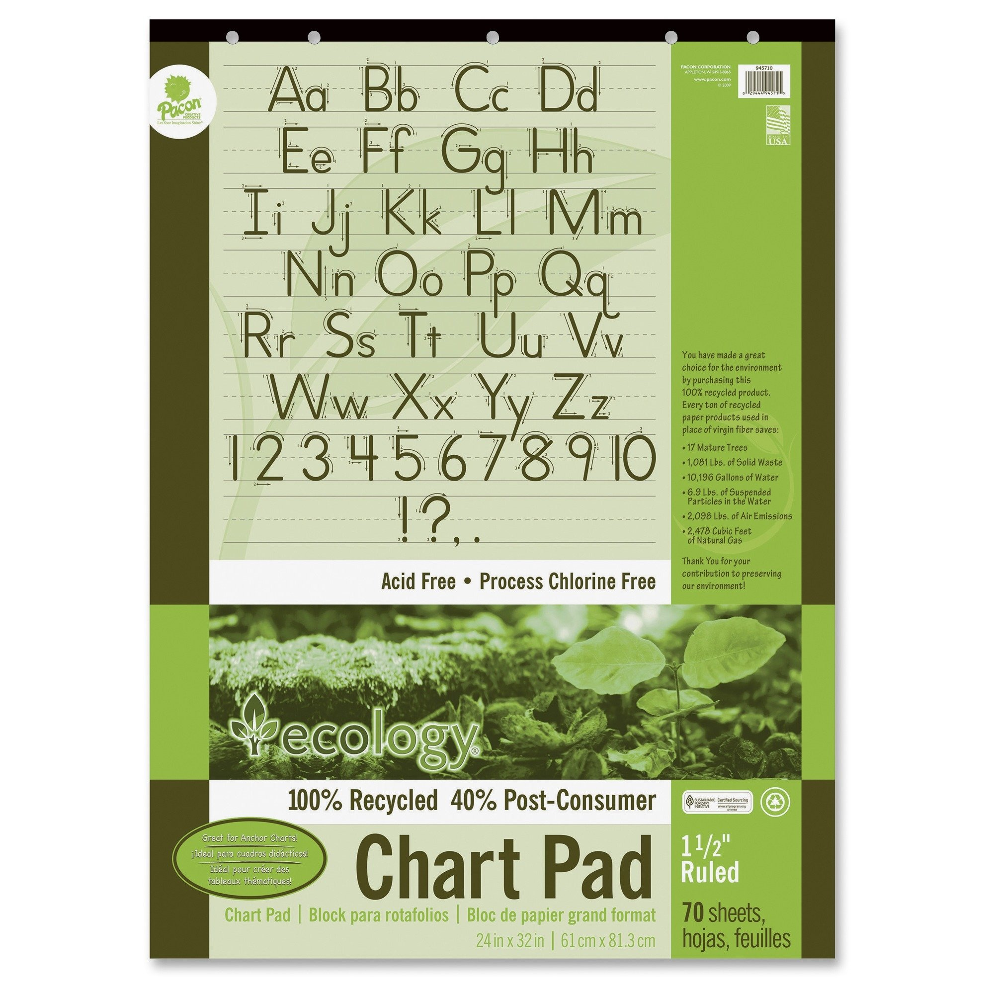 Pacon Ecology Handwriting Pad (PAC945710)