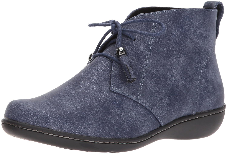 Soft Style Women's Jinger Ankle Bootie B01MUDSGIQ 8.5 W US|Navy Evening Nubuck