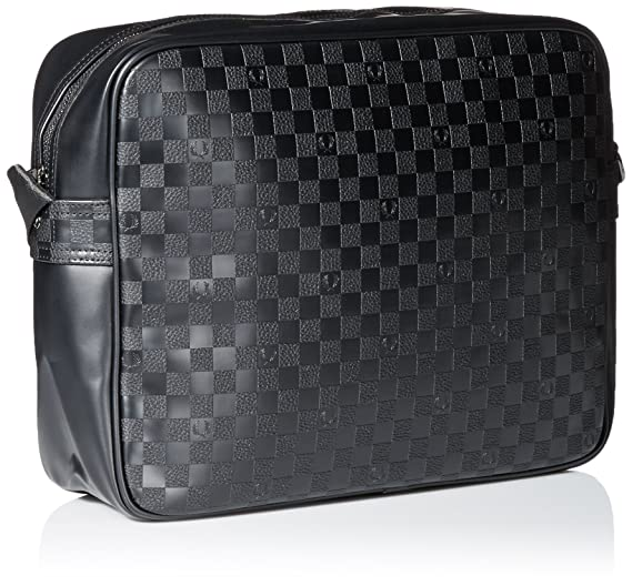 Homme Pu Damiers Pour Besace Tu Noir Perry Fred Sac T1clJFKu3