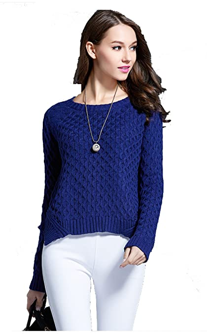 Miary Otoño E Invierno Moda Cuello Redondo Europa Y Estados Unidos Camisa De Imprimación Cobertura Suéteres