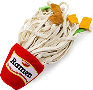Coco Emporium Ramen Dog Toy, Cute Plush Puppy Sniffle|Snuffle|Chew|Puzzle Toy, Dog Birthday Toy, Brain Stimulating, Nosework, Food Plushies, Food Dispenser, Dog Interactive Toys