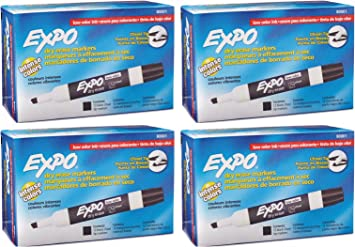 Expo Low Odor Dry Erase Markers Chisel Tip 72 PACK BLACK 80001 NEW