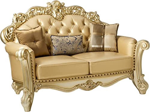 ACME Vendome Gold Patina Loveseat