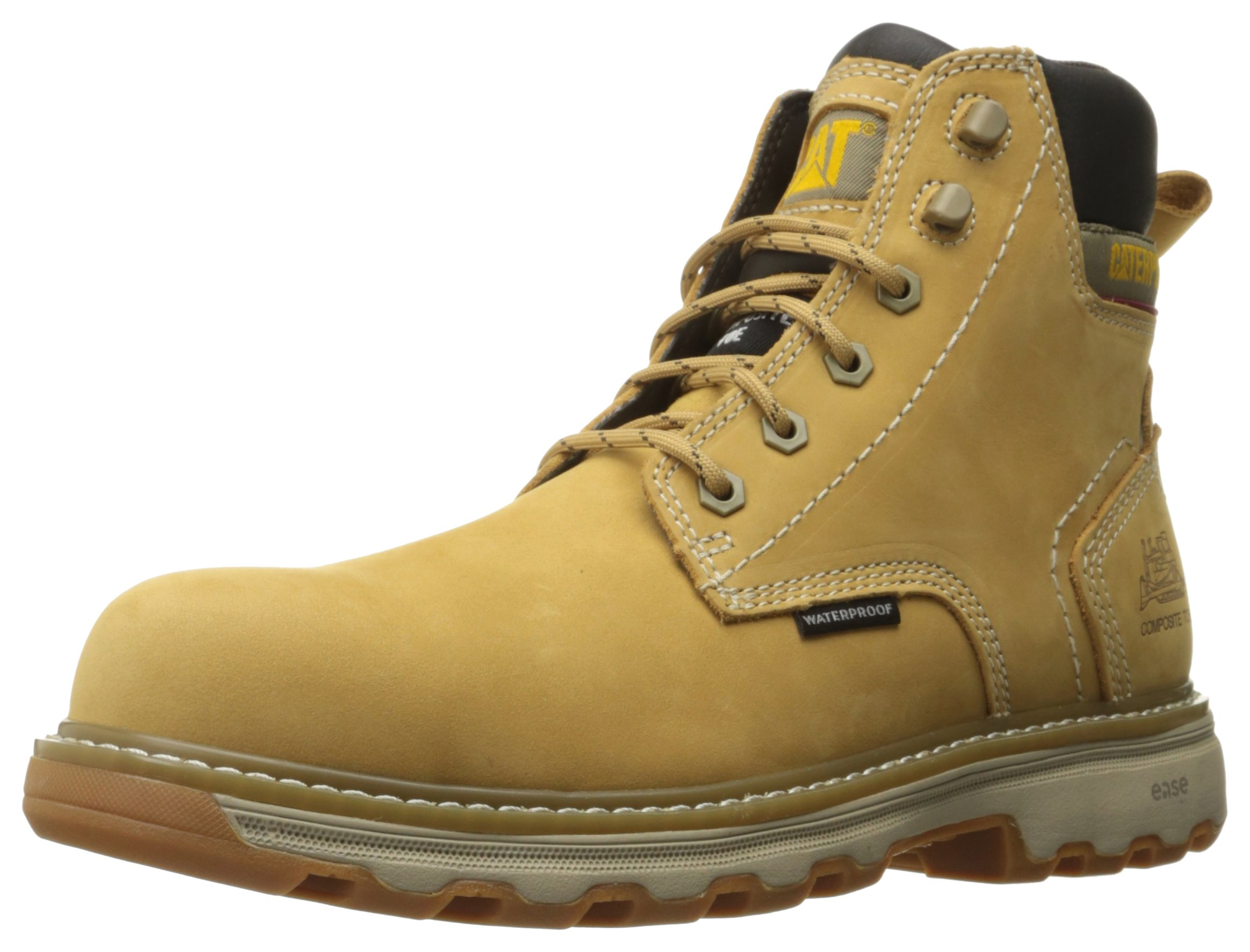 Caterpillar Men's Precision Comp Toe Waterproof Work Boot, Honey Reset, 12 M US