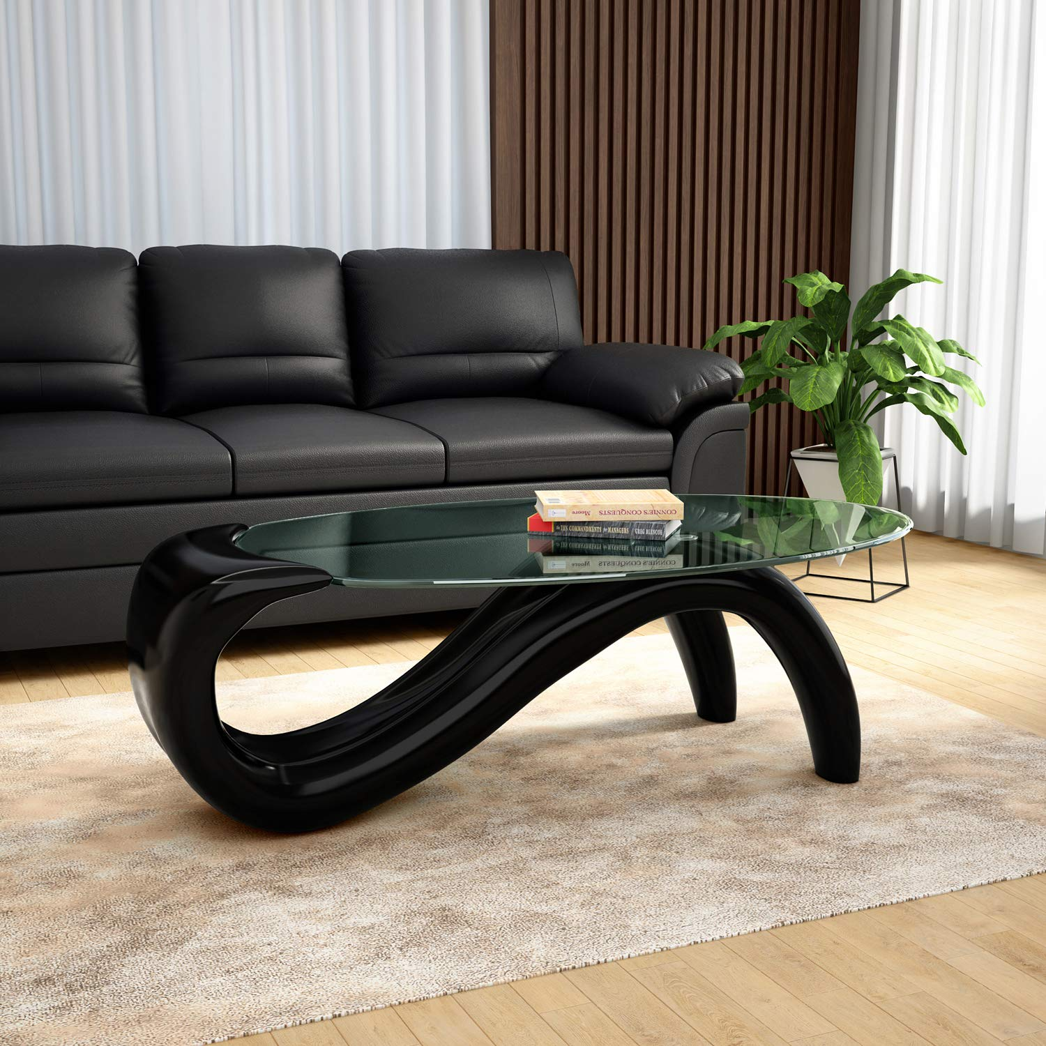 Godrej Interio Caferia Coffee Table (Glossy Finish, Black): Amazon