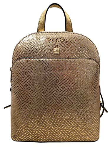 04e0baee416a Amazon.com  Michael Kors Adele Large Leather Backpack in Gold  Shoes